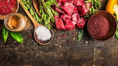 Meat and seasonings